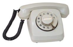 Retro grijze wijzerplaattelefoon Royalty-vrije Stock Foto's