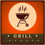 Retro Grill Menu Card Design template poster.  Stock Photography