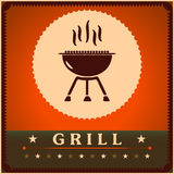 Retro Grill Menu Card Design template poster.  Stock Images