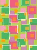 Retro groen en roze kubussen van de pret Stock Afbeelding