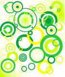 retro groene achtergrond (cirkel) Stock Foto