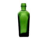 Retro Groene Glasfles Royalty-vrije Stock Afbeeldingen