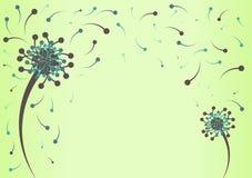 Retro Groene Grens van de Paardebloem royalty-vrije illustratie