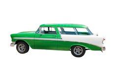Retro groene wagen hotrod royalty-vrije stock foto's