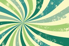 Free Retro Groovy Sunburst Background Pattern In 60s Hippy Style Grunge Textured Vintage Color Palette Of Blue And Green Royalty Free Stock Photography - 206010317