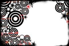 Retro Grunge Background. Black, red and white grunge fashion inspired background Stock Image