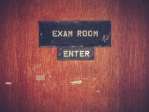 Retro Grunge Exam Room Door royalty free stock image