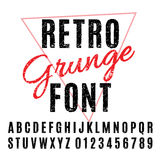 Retro Grunge Font Royalty Free Stock Photo