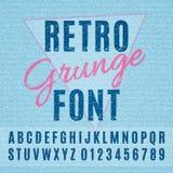 Retro Grunge Font Stock Photography