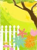 Retro Grunge Garden (vector) vector illustration