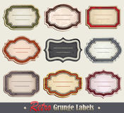Retro Grunge Labels Stock Photography