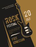 Retro grunge rock and roll, heavy metal, music festival vector poster design Stock Image