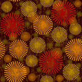 Retro grunge seamless with abstract flowers Royalty Free Stock Photography