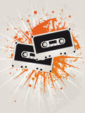 Retro Grunge Star Cassettes. Illustration Royalty Free Stock Photo