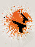 Retro Grunge Star Pistoles Stock Image