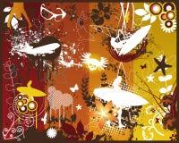 Retro Grunge Summer. Design Elements Vector Illustrations Stock Image