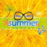 Retro grunge summer background Royalty Free Stock Image