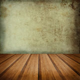 Retro grunge texture background with wooden floor platform foreg Royalty Free Stock Photos