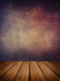 Retro grunge texture background with wooden floor platform foreg Royalty Free Stock Photography