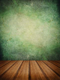 Retro grunge texture background with wooden floor platform foreg Royalty Free Stock Photo
