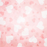 Retro grunge Valentine's Day Hearts Stock Images