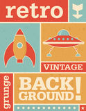 Retro Grunge Vector Background Image Stock Photos