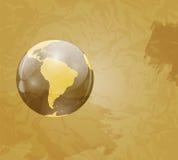 Retro Grunge World Map Vector Illustration Royalty Free Stock Image