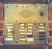 Retro Grungy Apartment Buzzer System Royalty Free Stock Photos
