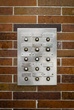Retro Grungy Apartment Intercom Royalty Free Stock Image