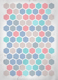 Retro grungy background with hexagons Stock Photography