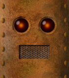 Retro grungy rusty robot face Royalty Free Stock Photo