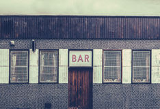 Retro Grungy Urban Bar Stock Image