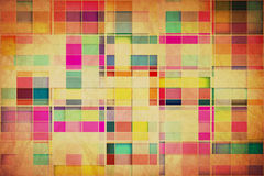 Retro Grungy Wallpaper Pattern Stock Photography
