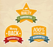 Retro guarantee labels Stock Photos