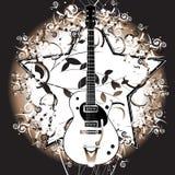 Retro guitar vector illustration