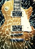 Retro guitar. Ist  on vintage abstract background Stock Photography