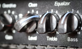 Retro guitar amplifier. Royalty Free Stock Photos
