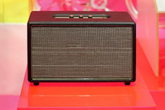 Retro guitar amplifier Stock Photo