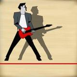 Retro Guitar Gig Guide Royalty Free Stock Photo