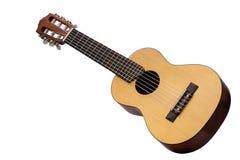 Retro guitar isolated on white stock photos