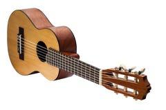 Retro guitar isolated on white Royalty Free Stock Image
