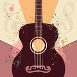 Retro Guitar Poster Royalty Free Stock Photo