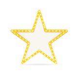 Retro guld- stjärna Tappningram med ljus som isoleras på vit bakgrund vektor illustrationer