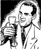 Retro Guy With Beer Stock Image