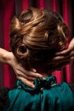 Retro hårstil royaltyfri foto