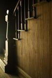 Retro- hölzerne Treppen Stockfoto