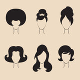 Retro haircut set Royalty Free Stock Images