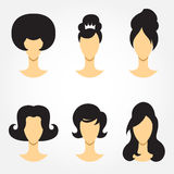 Retro haircut set Stock Images