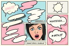 Retro Comic Book Speech Bubbles royalty free illustration