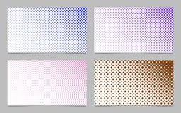 Retro halftone circle pattern business card background template set. Retro halftone circle pattern business card background template design set - vector Royalty Free Stock Photo